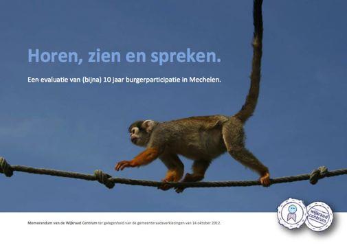 """Memorandum """"Horen, zien en spreken. Een evaluatie van (bijna) 10 jaar burgerparticipatie in Mechelen."""""""