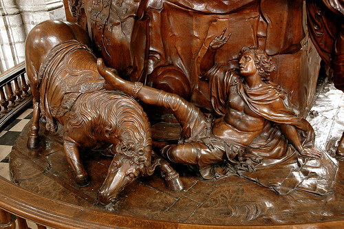 Detail preekstoel, bron Mechelen Blogt