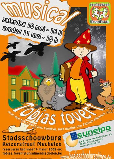 Tobias Tovert! - affiche (c) Basisschool UM